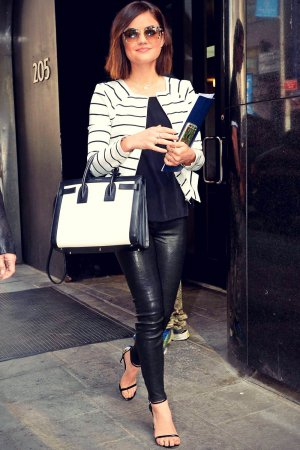 Lucy Hale arriving at 'Good Day New York' on Fox