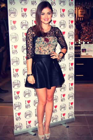Lucy Hale at Henri Bendel opening