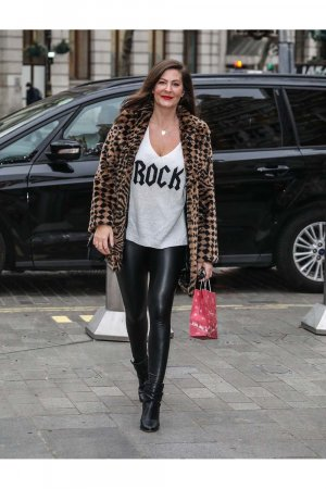 Lucy Horobin seen at Global Radio Studios in London