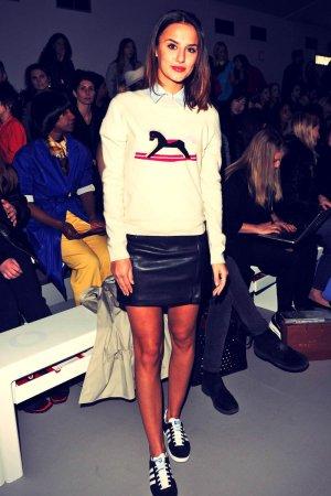 Lucy Watson attends Eudon Choi fashion show
