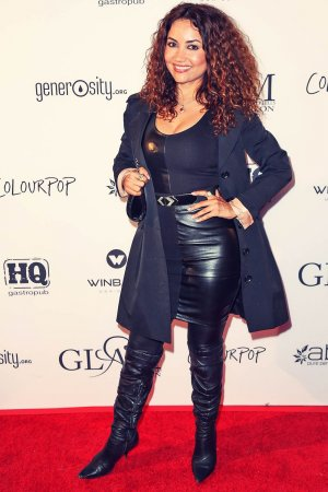 Luisa Diaz attends GLAM Beverly Hills Salon Grand Opening and Ribbon Cutting Celebration