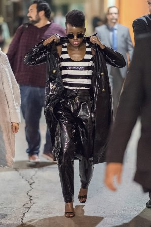 Lupita Nyong'o seen arriving at Jimmy Kimmel Live Studios