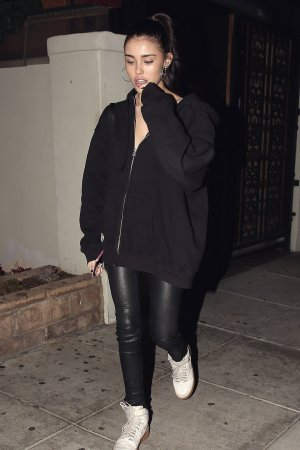 Madison Beer exits Matsuhisa after having a girls night out