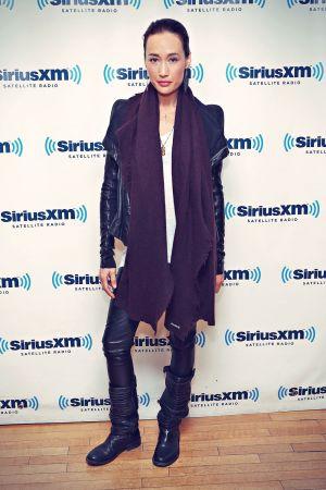 Maggie Q visiting SiriusXM Studios