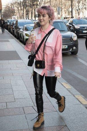 Maisie Williams out in Paris