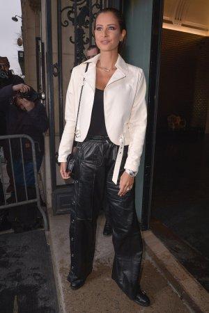 Malika Menard attends Jean Paul Gaultier show