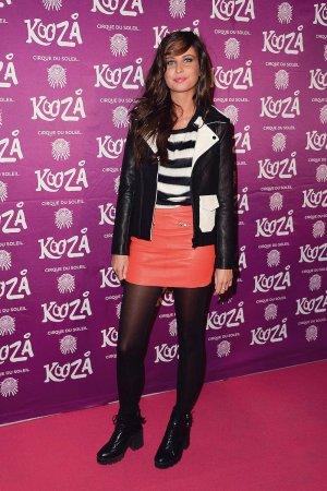Malika Menard attends the premiere of Cirque du Soleil Kooza