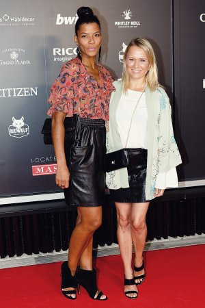 Mandy Berwanger & Nova Meierhenrich attend German Open Players Night