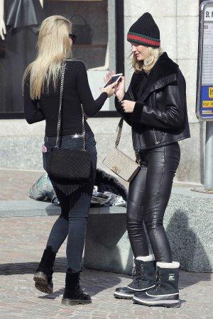 Mandy Bork seen in St. Moritz