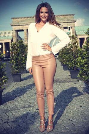Mandy Capristo attends Grazia Modenschau am Vorabend der Mercedes-Benz Fashion Week