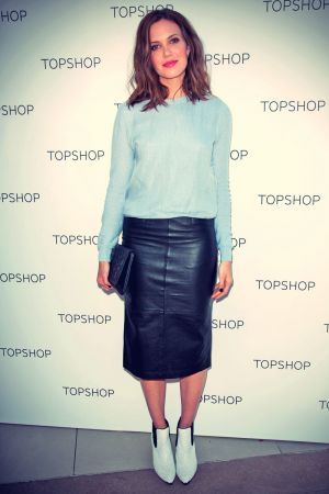 Mandy Moore at the Topshop Holiday Event