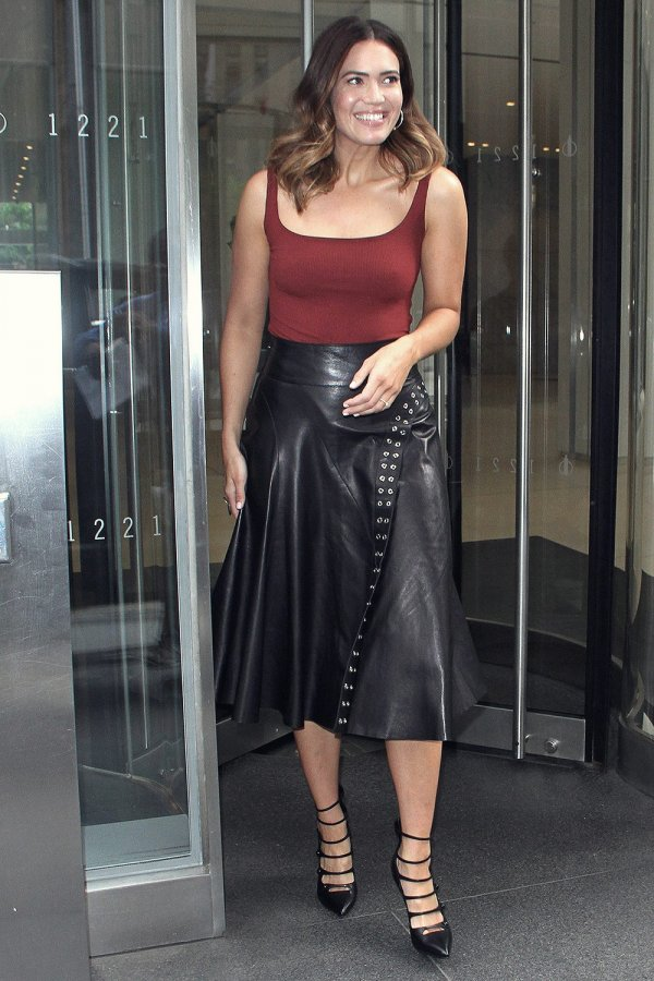 Mandy Moore is all smiles after making an appearance on 'The Howard Stern Show'