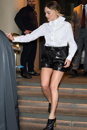 Margot Robbie attends Hulu upfront presentation