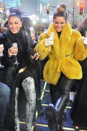 Maria Menounos at FOXs New Years Eve with Steve Harvey