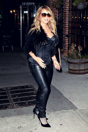 Mariah Carey at Luzzo's in NYC