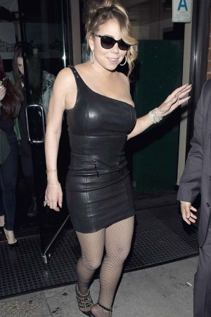 Mariah Carey leaving Mr Chow Restaurant