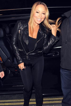 Mariah Carey out in London