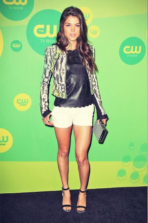 Marie Avgeropoulos attends 2013 CW Network Upfront Presentation