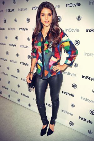 Marie Avgeropoulos attends InStyle Summer Soiree