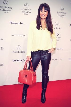 Mariella Ahrens attends Mercedes-Benz Fashion Week