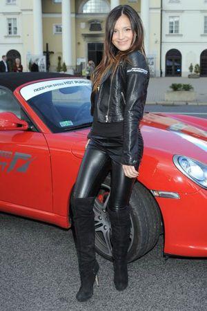 Marina Luczenko leather pants