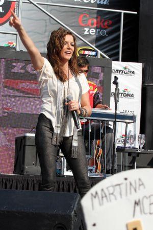 Martina McBride performing at the NASCAR Coke Zero 400 in Daytona