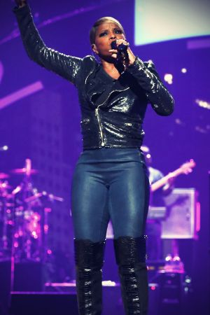 Mary J Blige on stage during the 2012 iHeartRadio Music Festival
