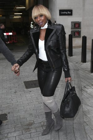 Mary J Blige seen at BBC Radio One