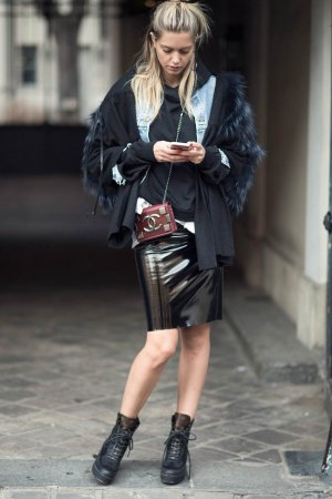 Mathilde Frachon street style in Paris