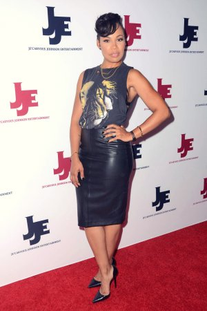 Meagan Good and Laimyia Good attend JeiCaryous Johnson's Married But Single Opening
