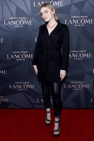 Meg Donnelly attends Lancome x Vogue L'Absolu Ruby Holiday Event