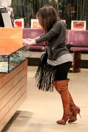 Megan Fox shopping for some Christmas gifts for herself at Madison