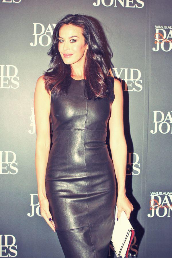 Megan Gale Attends David Jones Aw13 Fashion Leather