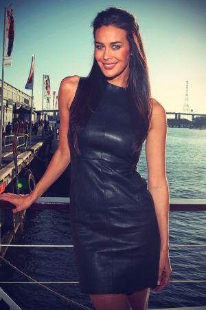 Megan Gale LOreal Paris Boat pre show  2012