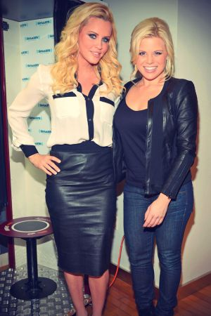 Megan Hilty & Jenny McCarthy in leather