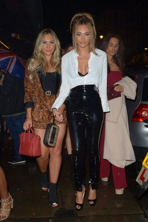Megan McKenna out in the streets of Soho