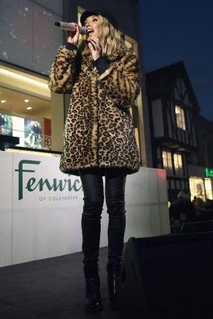Megan McKenna performs at the Colchester Christmas lights switch