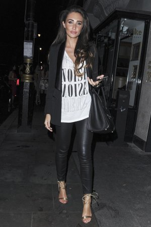 Megan McKenna spotted leaving Tramp nightclub