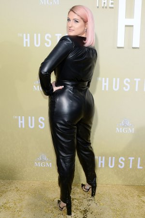 Meghan Trainor attends The Hustle premiere