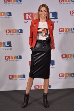 """Meike Gehring attends 24th RTL Spendenmarathon """"Wir helfen Kindern"""""""