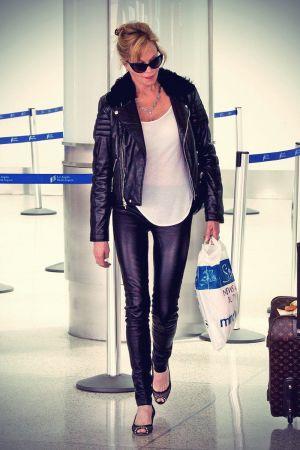 Melanie Griffith arrives at LAX