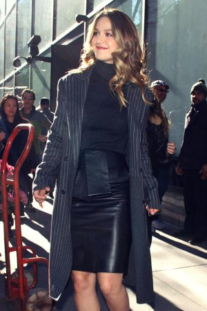 Melissa Benoist candids in New York