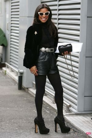 Melody Thornton out and about in central London