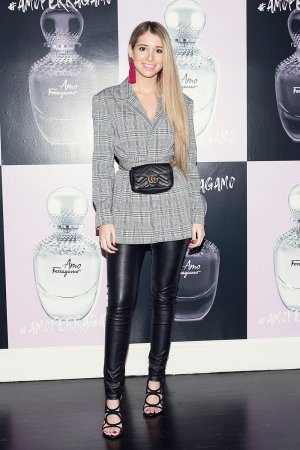 Mercedes Gonzalez attends Amo Ferragamo hosted by Suki Waterhouse