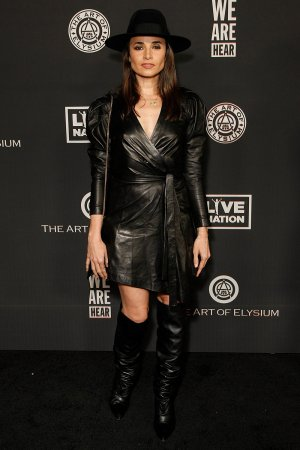 Mia Maestro attends The Art Of Elysium's