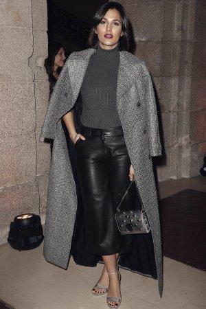Michelle Calvo attends the Roberto Verino show during
