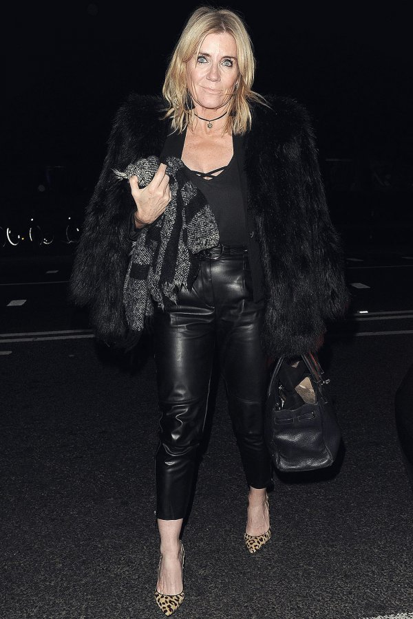 Michelle Collins arrives at Phil Turner 50th Birthday Party