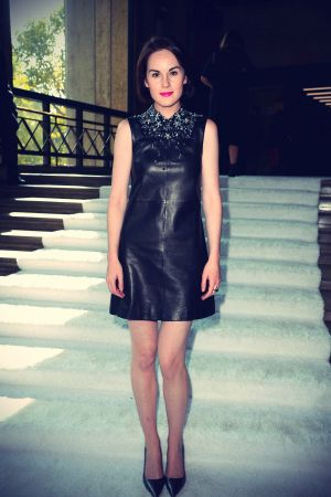 Michelle Dockery at the Miu Miu Show as part of the Paris Fashion Week