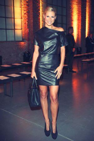 Michelle Hunziker at Trussardi fashion show