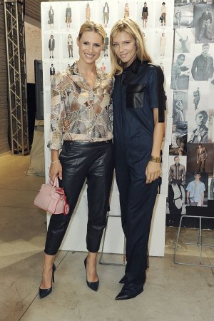 Michelle Hunziker at Trussardi Fashion Show